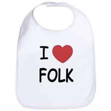 I heart folk Bib