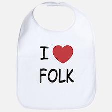 I heart folk Bib