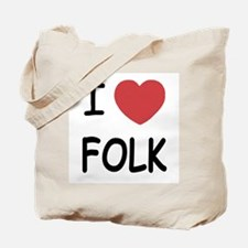 I heart folk Tote Bag