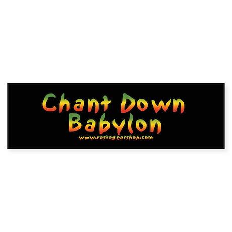 Rasta Gear Shop Chant Down Bumper Sticker