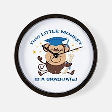 Boy Monkey Graduate Wall Clock