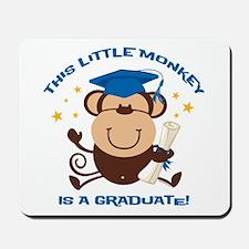 Boy Monkey Graduate Mousepad