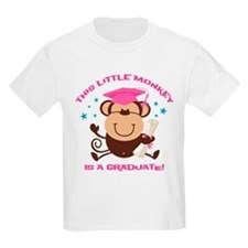 Girl Monkey Graduate T-Shirt