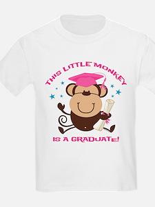 Girl Monkey Graduate T-Shirt