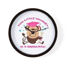 Girl Monkey Graduate Wall Clock