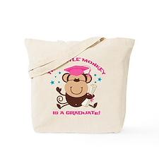 Girl Monkey Graduate Tote Bag