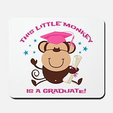 Girl Monkey Graduate Mousepad