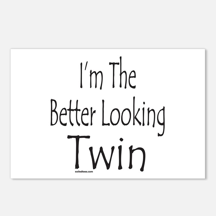 BETTER LOOKING TWIN Postcards (Package of 8)