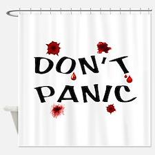 NO PANIC Shower Curtain