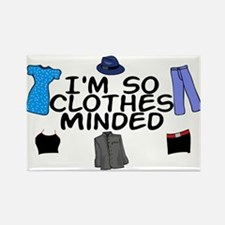 Clothes Minded Rectangle Magnet
