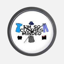 Clothes Minded Wall Clock