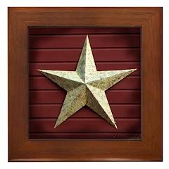 Star Americana Framed Tile