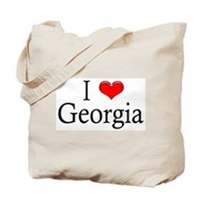 I Heart Georgia Tote Bag