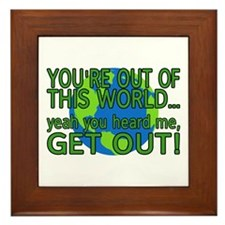 Get Out Of This World Framed Tile