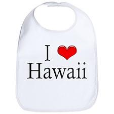 I Heart Hawaii Bib
