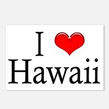 I Heart Hawaii Postcards (Package of 8)