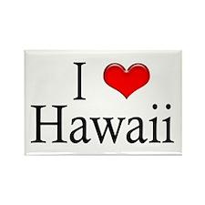 I Heart Hawaii Rectangle Magnet