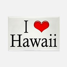 I Heart Hawaii Rectangle Magnet
