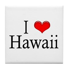 I Heart Hawaii Tile Coaster