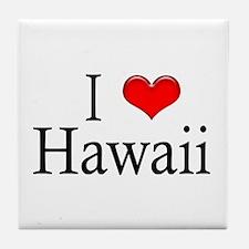 I Heart Hawaii Tile Coaster