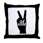 Peace of Mind Gear Throw Pillow