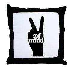 Peace of Mind Gear Throw Pillow