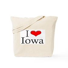 I Heart Iowa Tote Bag