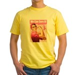 Rosie the Riveter Breast Canc Yellow T-Shirt