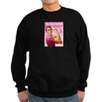 Rosie the Riveter Breast Canc Sweatshirt (dark)
