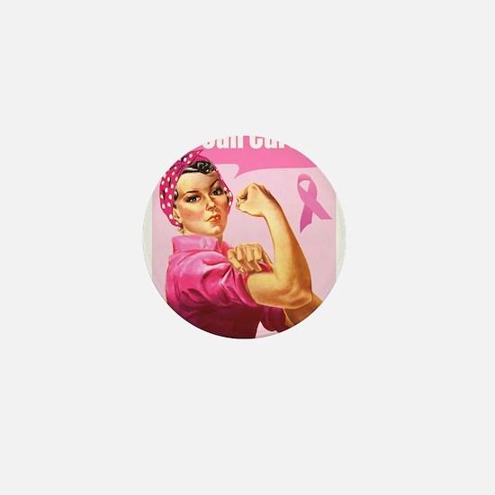 Rosie the Riveter Breast Canc Mini Button