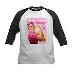Rosie the Riveter Breast Canc Kids Baseball Jersey
