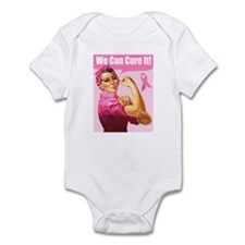 Rosie the Riveter Breast Canc Infant Bodysuit