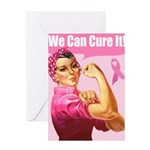 Rosie the Riveter Breast Canc Greeting Card