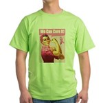 Rosie the Riveter Breast Canc Green T-Shirt