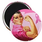 Rosie the Riveter Breast Canc 2.25