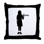 Peace Baby Girl Gear Throw Pillow