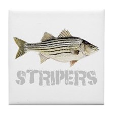 Fat Stripers Tile Coaster