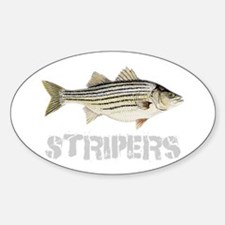 Fat Stripers Sticker (Oval)