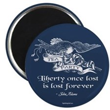 """Adams Quote - Liberty 2.25"""" Magnet (10 pack)"""