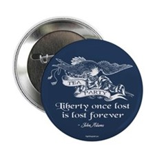 """Adams Quote - Liberty 2.25"""" Button (100 pack)"""