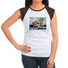 Armoured Carousel Horse Women's Cap Sleeve T-Shirt