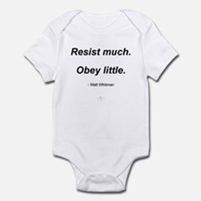 Resist much. Obey Little. Infant Bodysuit
