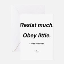 Resist much. Obey Little. Greeting Card