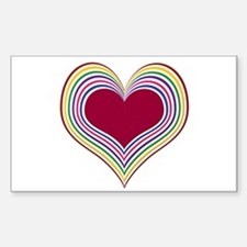 Colorful Heart Rectangle Decal