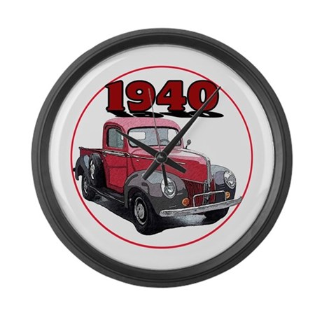 The 1940 Pickup Large Wall Clock