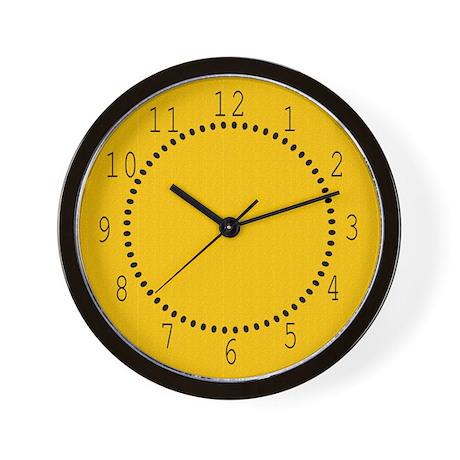 Gold Satin Look Wall Clock