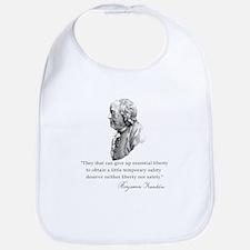 Ben Franklin Liberty Quote Bib