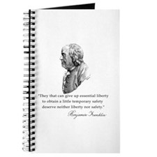 Ben Franklin Liberty Quote Journal