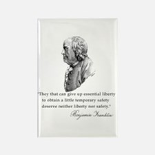 Ben Franklin Liberty Quote Rectangle Magnet