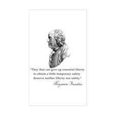 Ben Franklin Liberty Quote Rectangle Decal